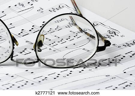 Banco de Fotografías - anteojos on, música hoja k2777121 - Buscar ...