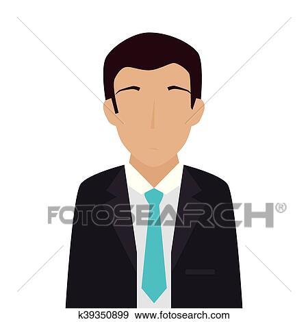 Homme Adulte Complet Cravate Clipart K39350899 Fotosearch