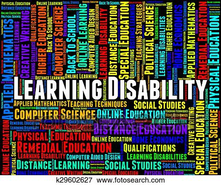 Stock Illustration of Learning Disability Words Represents ...