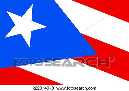 Stock Illustration Of Puerto Rico Flag K22374978