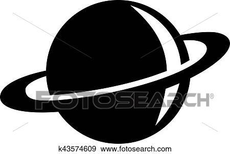 Clip Art Of Saturn Symbol K43574609 Search Clipart Illustration
