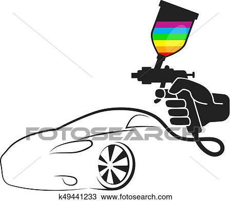 Spray For Painting Cars Clipart K49441233 Fotosearch