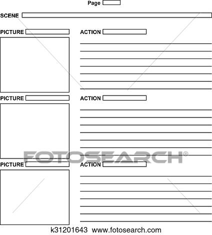 Clipart Of Template For The Script Storyboard K31201643