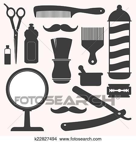 Disegni barbiere e parrucchiere relativo icona for Simbolo barbiere