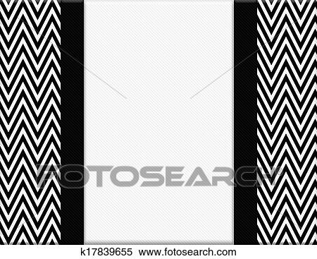 Stock illustration black and white chevron frame with ribbon background fotosearch search clipart