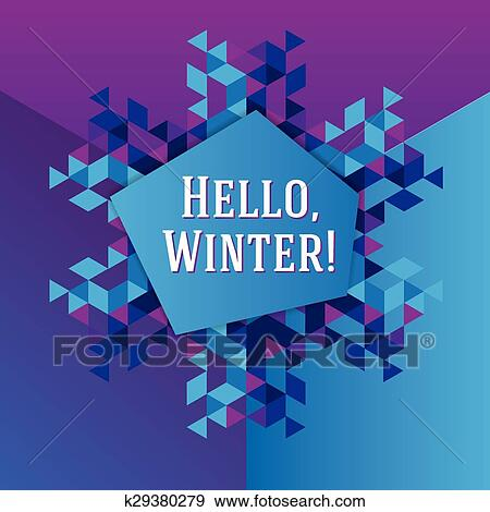 Clip art of business greeting christmas and new year card k29380279 abstract triangle snowflake stylish vector illustration and modern design element m4hsunfo
