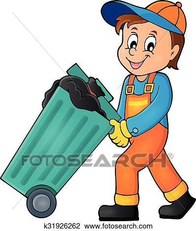clipart of garbage collector theme image 1 k31926262 search clip rh fotosearch com garbage images clip art garbage man clipart