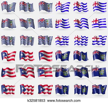 Dibujo territorio ingl s oc ano indico ajaria puerto rico pitcairn islands conjunto de - Nacionalidad de puerto rico en ingles ...