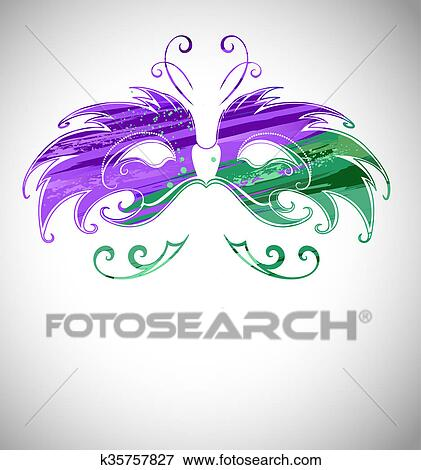Stock Illustration Maske Malen Mit Farbe K35757827 Suche