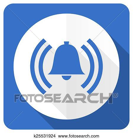 dessins reveil bleu plat ic ne alerte signe cloche symbole k25531924 recherche de. Black Bedroom Furniture Sets. Home Design Ideas