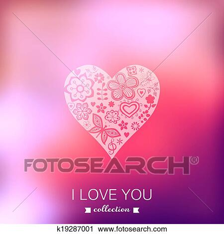 Vector Valentine S Day Background Heart Blurred Template