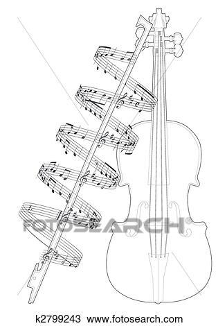 Violino Desenho K2799243 Fotosearch