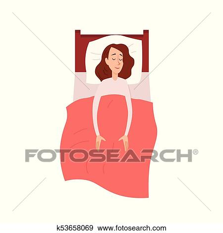 Woman sleeping or dreaming having a rest lying on couch ...