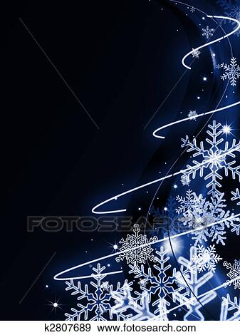 stock illustration of abstract vertical dark blue christmas