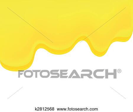 流れること 蜂蜜 イラスト K2812568 Fotosearch