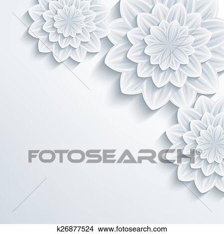 Floral Elegant Background With 3d Flower Chrysanthemum Clipart