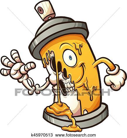 clipart of graffiti spray can k45970513 search clip art