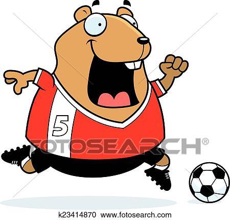 Karikatur Hamster Fussball Clipart K23414870 Fotosearch