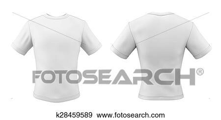 sports shoes d6a10 9495e Schablonen, t-shirts, front, und, back, für, dein, design Stock Illustration