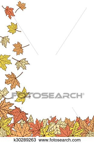 Color Autumn Leaves Template Clipart K30289263 Fotosearch