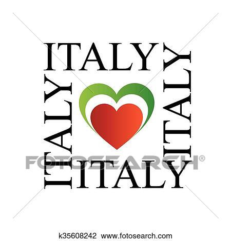 clipart of i love italy with italian flag k35608242 search clip rh fotosearch com italy clipart black and white florence italy clipart