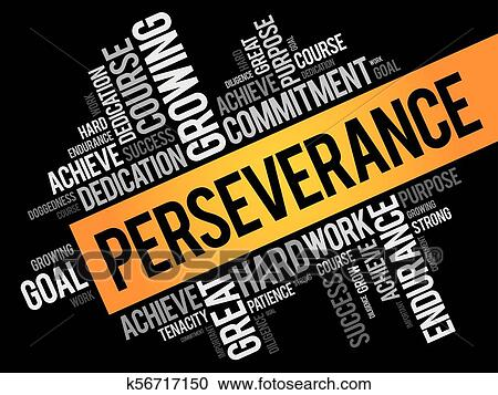 clipart of perseverance word cloud collage k56717150 search clip