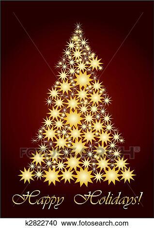 Immagini Natale Oro.Stellato Albero Natale Oro Clipart