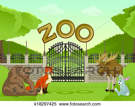Cartoon Of A Panda And Zebras At A Zoo Entrance Royalty Free Vector Clipart in addition  additionally Entrance Clipart additionally Dwe Cartoon Spinosaurus Head Jurassic Park Entrance Model moreover Zoo With Cartoon Animals Clipart K. on zoo entrance picture cartoon