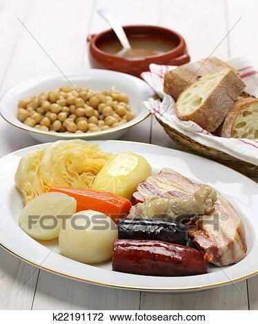 Cocido Madrileno Cuisine Espagnole Banque D Image K22191172