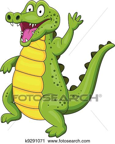 Crocodile Dessin Anime Clipart K9291071 Fotosearch