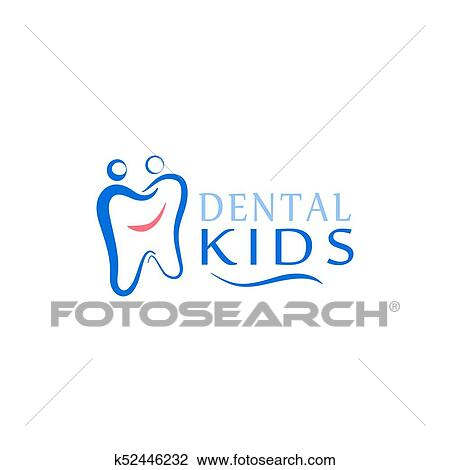 Logo Dental Care Clinic Dentistry For Kids Teeth Abstract Icons Clipart K52446232 Fotosearch