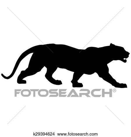 Dibujos - pantera negra, roars, loudly k29394624 - Buscar Clip Art ...
