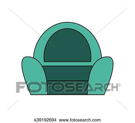 Single Sofa Chair Icon Clipart K39192694 Fotosearch