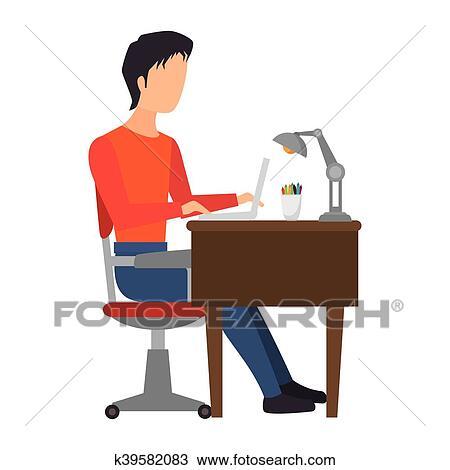 Bürotisch clipart  Arbeit, bürotisch Clipart