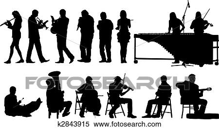 clipart of musicians silhouettes k2843915 search clip art