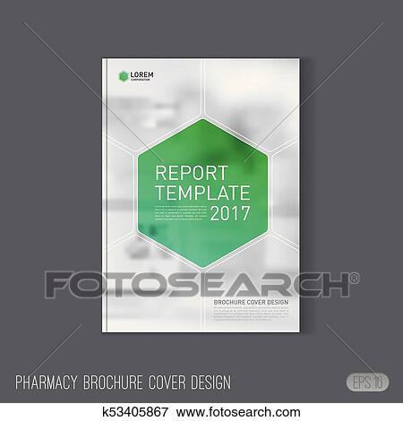 Clip Art Of Pharmaceutical Brochure Cover Template K53405867