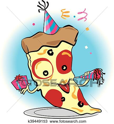 clipart of pizza party k39449153 search clip art illustration rh fotosearch com pizza party clip art free
