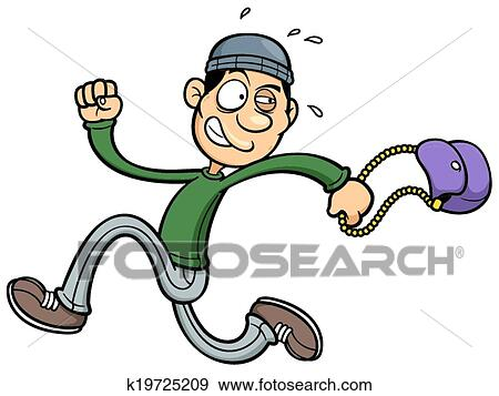 clip art of thief k19725209 search clipart illustration posters rh fotosearch com the lightning thief clipart car thief clipart