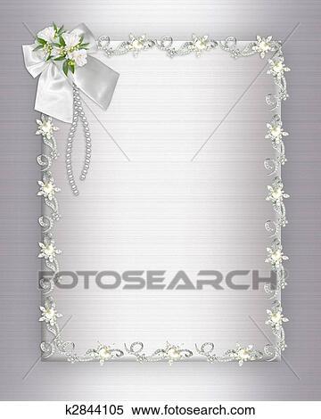 Wedding Invitation Elegant Border Stock Illustration