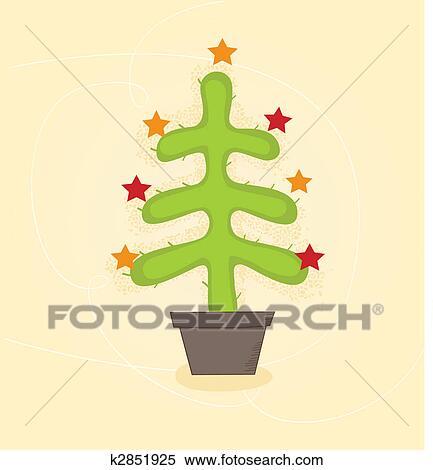 Christmas Cactus Clipart.Christmas Cactus Tree Clipart