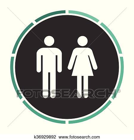 Clipart Hombre Y Mujer Computadora Símbolo K36929892 Buscar