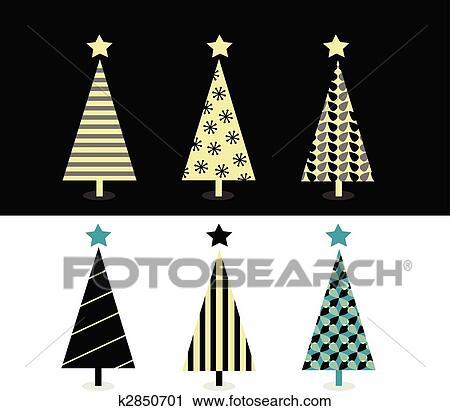 Clipart Schwarz Weiß Weihnachtsbaum Design K2850701 Suche
