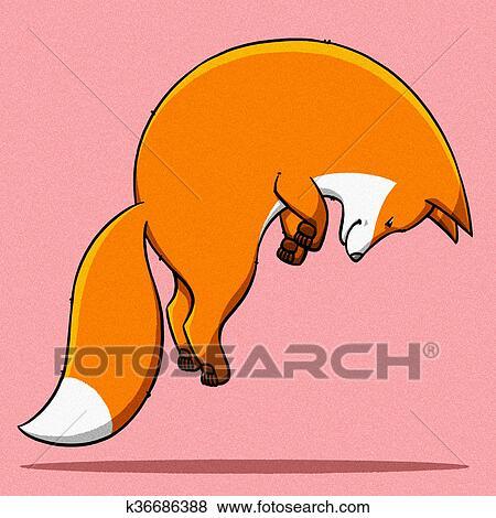 面白い 漫画 かわいい 脂肪 キツネ イラスト イラスト K36686388
