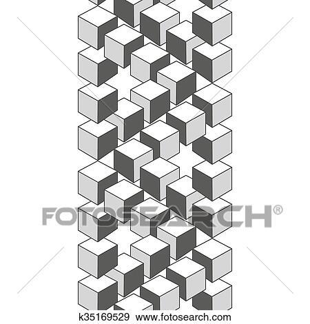 Clip Art Illusione Ottica Estratto Disegno Geometrico Element