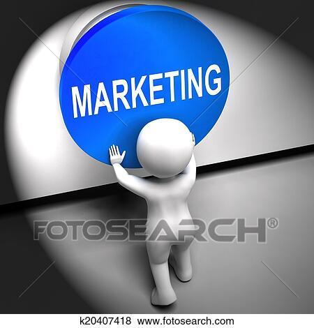 4986dfde72 Archivio Illustrazioni - marketing, premuto, mezzi, marca, promozioni, e,  pubblicità