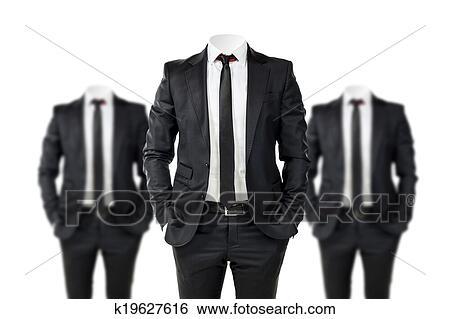 ビジネス男 中に 黒いスーツ で 表面 イラスト K19627616