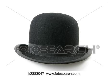 8bcbb8c6160 Picture of black bowler hat k2883047 - Search Stock Photography ...