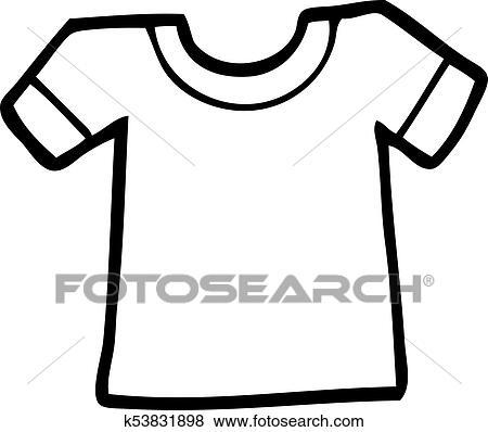 Cartoon Tee Shirt Clip Art K53831898