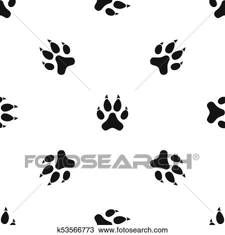 Dessin chat patte mod le seamless noir k53566773 - Modele dessin chat ...