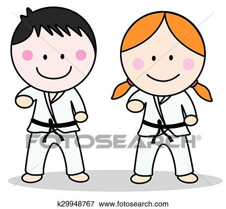 Clip Art of karate k30174228  Search Clipart
